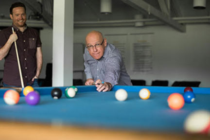 Aurora Recovery Centre gaming, pool table, billiards