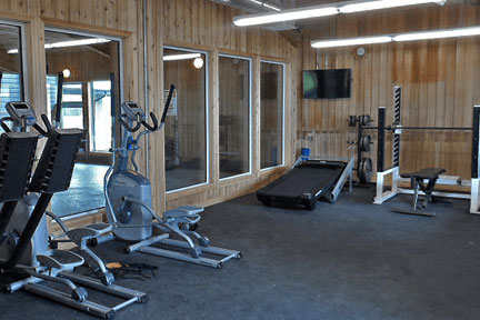Aurora Recovery Centre gym, fitness, working out