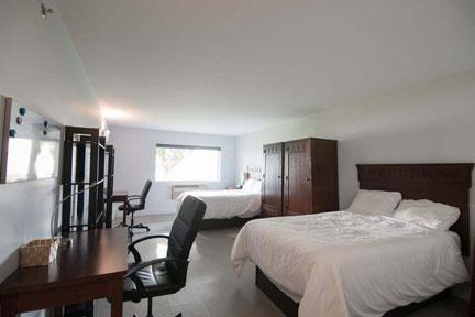 Aurora Recovery Centre spacious rooms, semi-private, lake views