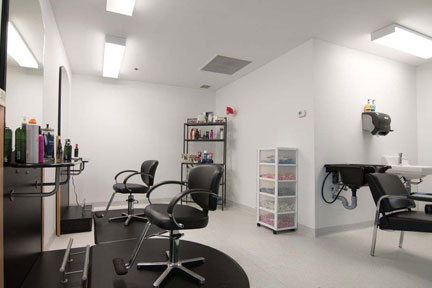 Aurora Recovery Centre hair salon